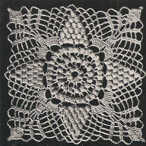 Crochet Flower Medallion Pattern for Bedspread