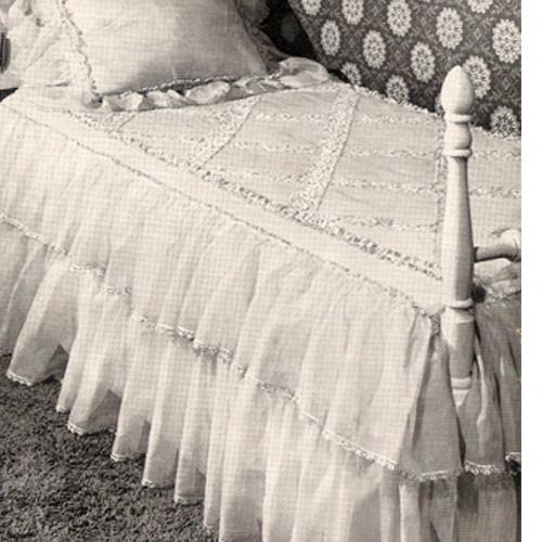 Cinderella Crochet Ruffled Bedspread Pattern