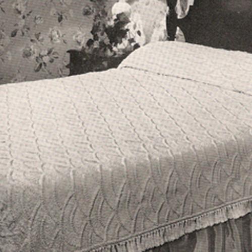 Vintage Shell Crochet Bedspread Pattern