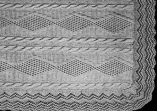 Trailing Vine Knitted Pattern Stitch Illustration
