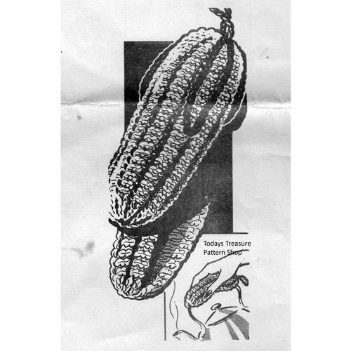 Vintage Corncob Potholder Knitting Pattern