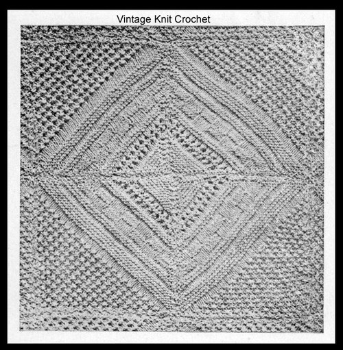 American Thread Knitted Block pattern for bedspread
