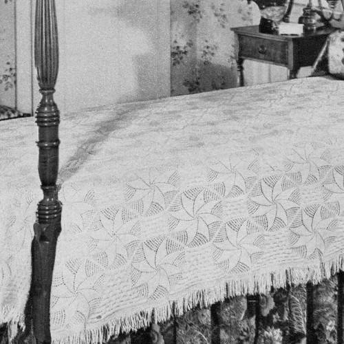 Vintage Pinwheel Bedspread Knitting Pattern