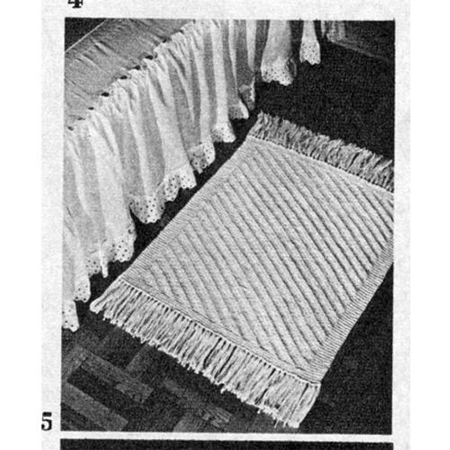 Diagonal Stitch Rug Knitting pattern