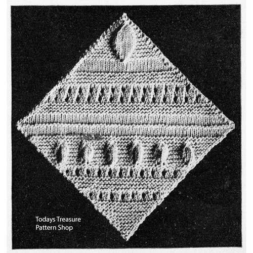Knitted Pennsylvania Dutch Medallion Pattern
