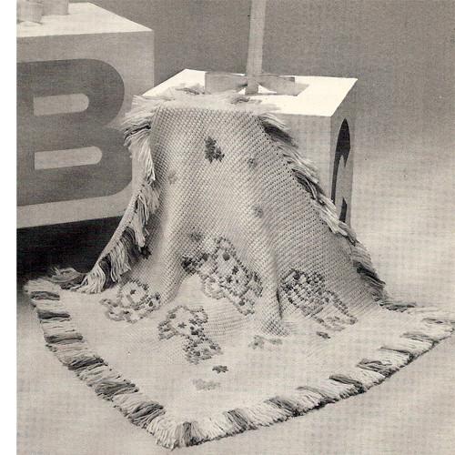 Puppy Crochet Baby Blanket Pattern