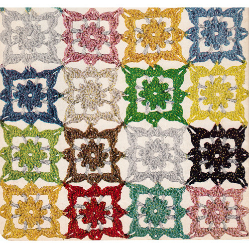 Modern Motif Crochet Medallion Illustration