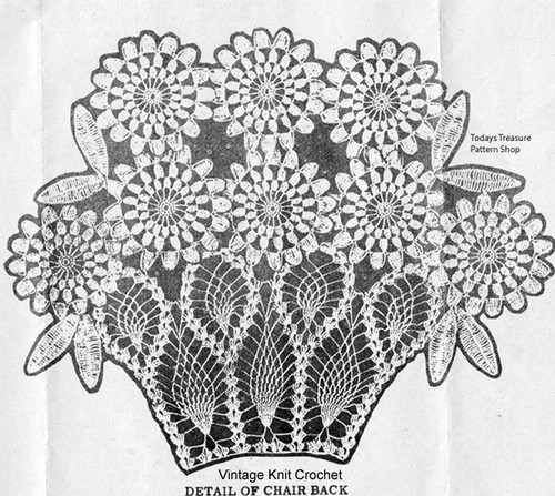 Crochet Daisy in Pineapple Basket Pattern Design 629