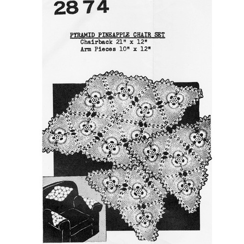 Mail Order 2874, Crochet Pineapple Pyramid Doily Pattern