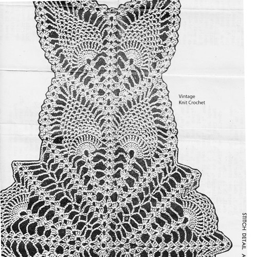 Crochet Pattern Illustration for pineapple wheel chair set