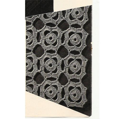 Crochet mini medallion pattern detail