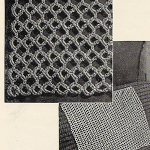 Vintage Honeycomb Crocheted Motif Pattern