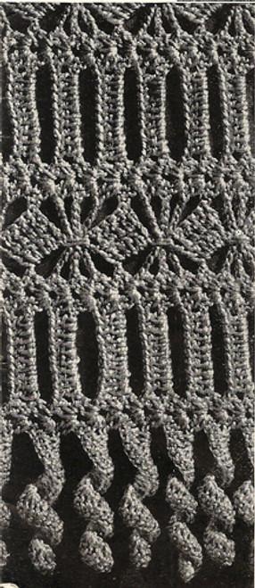 Crochet Diamond Band Motif for Chair Set