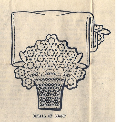 Chair Set Flower Basket Crochet Pattern No 5394
