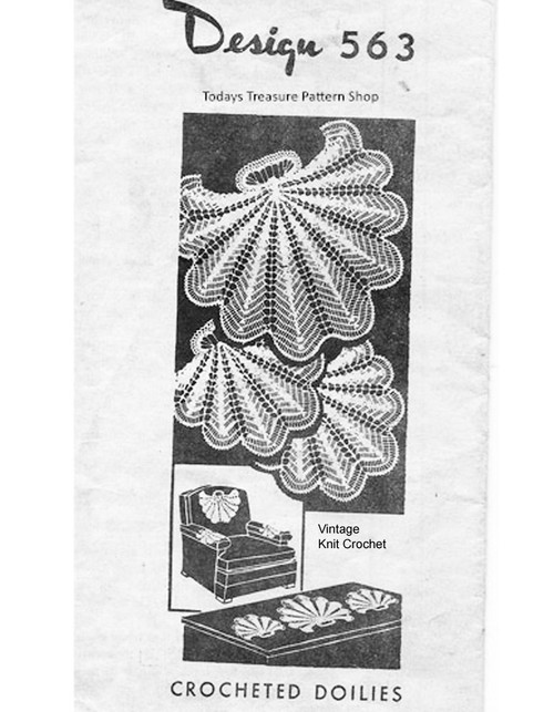 Shell Crocheted Chair Set Pattern, Mail Order 563
