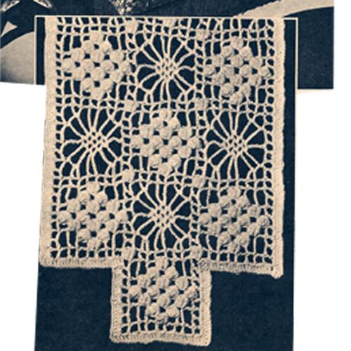 Crochet Medallion Pattern for Chair Set