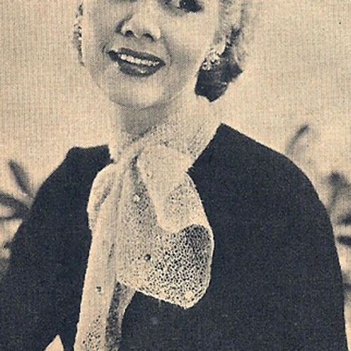 Knitting Pattern for Vintage Ascot Scarf