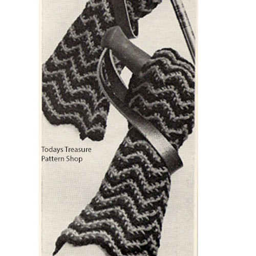 Knitted Ripple Gloves Pattern