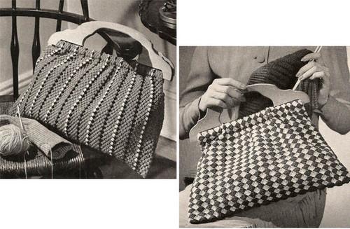 Wood Handle Bag Crochet Pattern