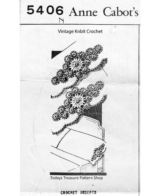 Crochet Pillowcase Insertion Pattern No 5406