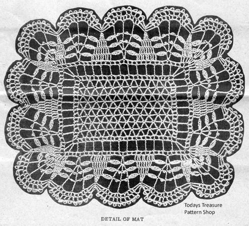 Crochet Mats Pattern Illustration