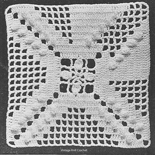 Large Crochet Square for Pillow Pattern