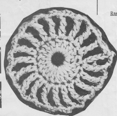Crochet Medallion Pattern for Trimming