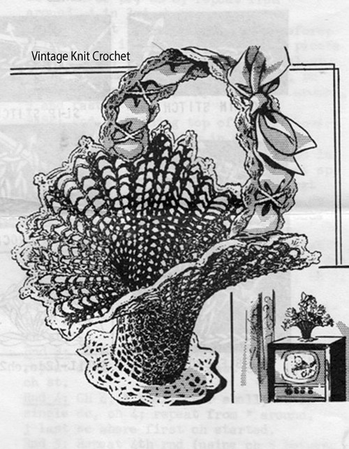 Vintage Crochet Basket Pattern, Home Accessory, Anne Cabot 2937
