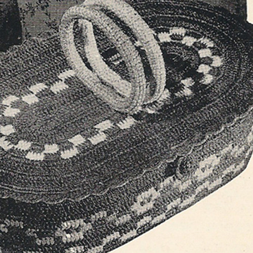 Oval Crochet Basket Pattern with handles