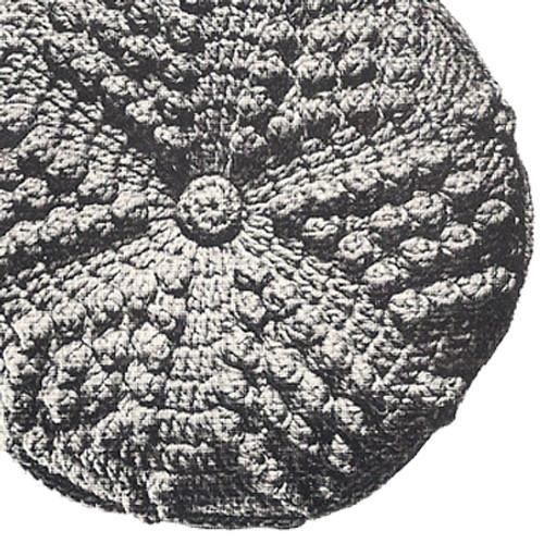 Round Crochet Popcorn Stitch Pillow Pattern