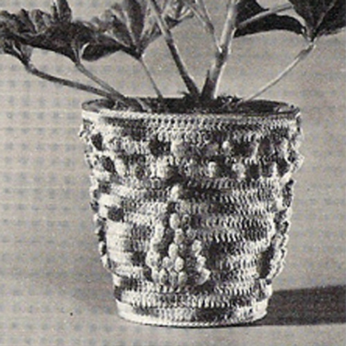 Crocheted Plant Cover, Free Pattern