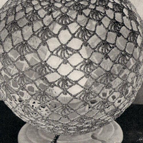 Vintage Crocheted Globe Lamp Cover