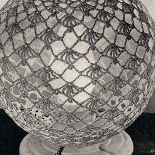 Vintage Crocheted Globe Lamp Cover
