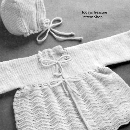 Chevron Striped Baby Set Pattern
