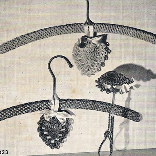 Crochet Sachet Pattern in heart hat shapes