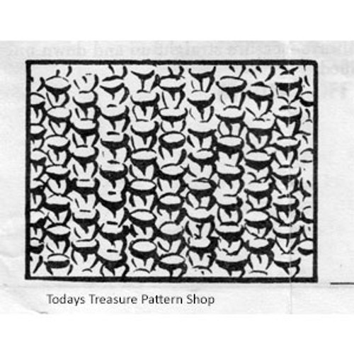 Knitted Pattern Stitch for Tabbard Design 2649