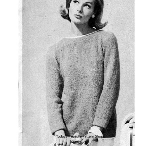 Knitting Pattern Loose Fitting Pullover Pattern