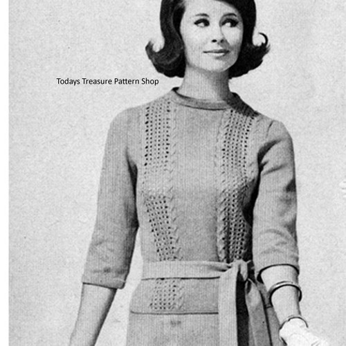 Vintage panel Blouse Knitting pattern
