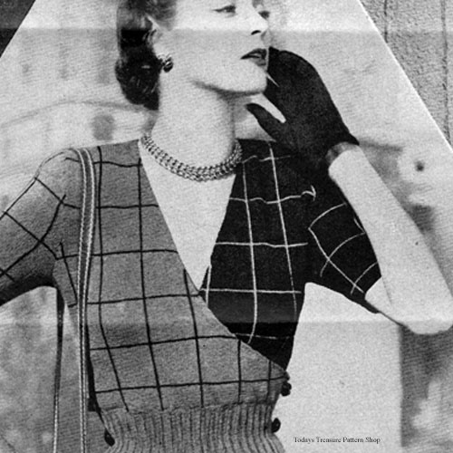 Wrap Around Knitted Blouse pattern