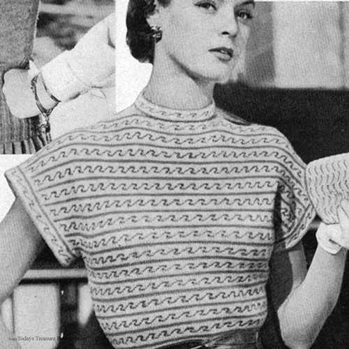 Blouse Knitting pattern with Extended SHoulders