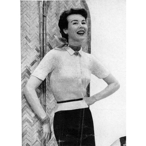 Knitted Short Sleeve Blouse Pattern