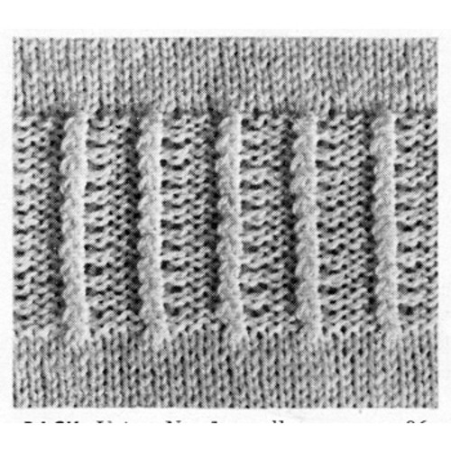 Twisted Rib Stitch Knit Pattern Stitch