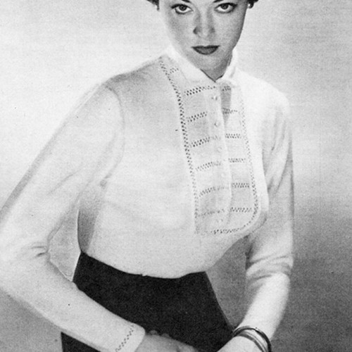 Knitted Shirt Pattern, Vintage 1950s