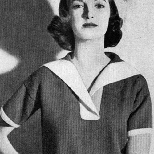 Collared Middy Blouse Knitting pattern