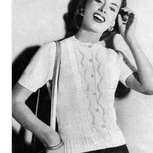 Knitted Short Sleeve Lace Cardigan Pattern