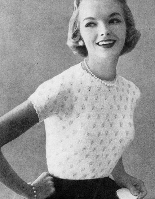 Vintage Short Sleeve Top Knitting Pattern