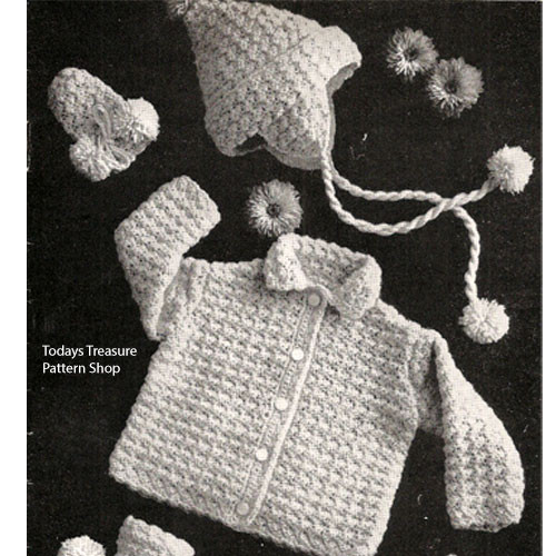 Crocheted Baby Set Pattern