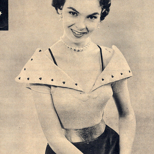 Knitted Off-Shoulder Collared Blouse Pattern