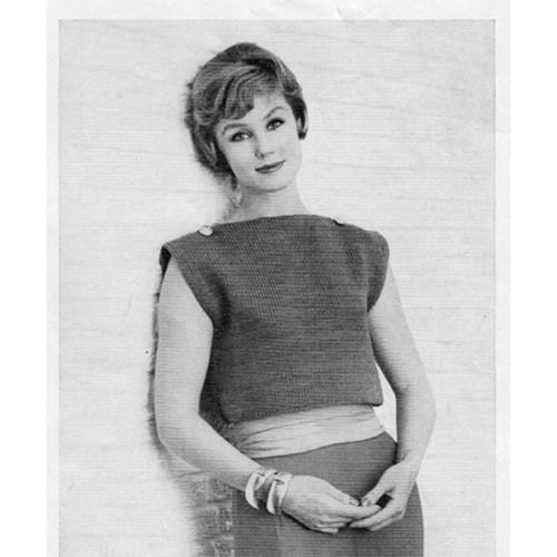 Vintage Crop Top Knitting pattern