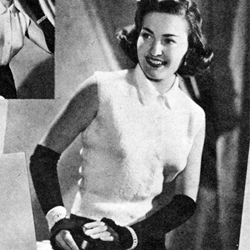 Gay Timer Knitted Blouse pattern, Vintage 1950